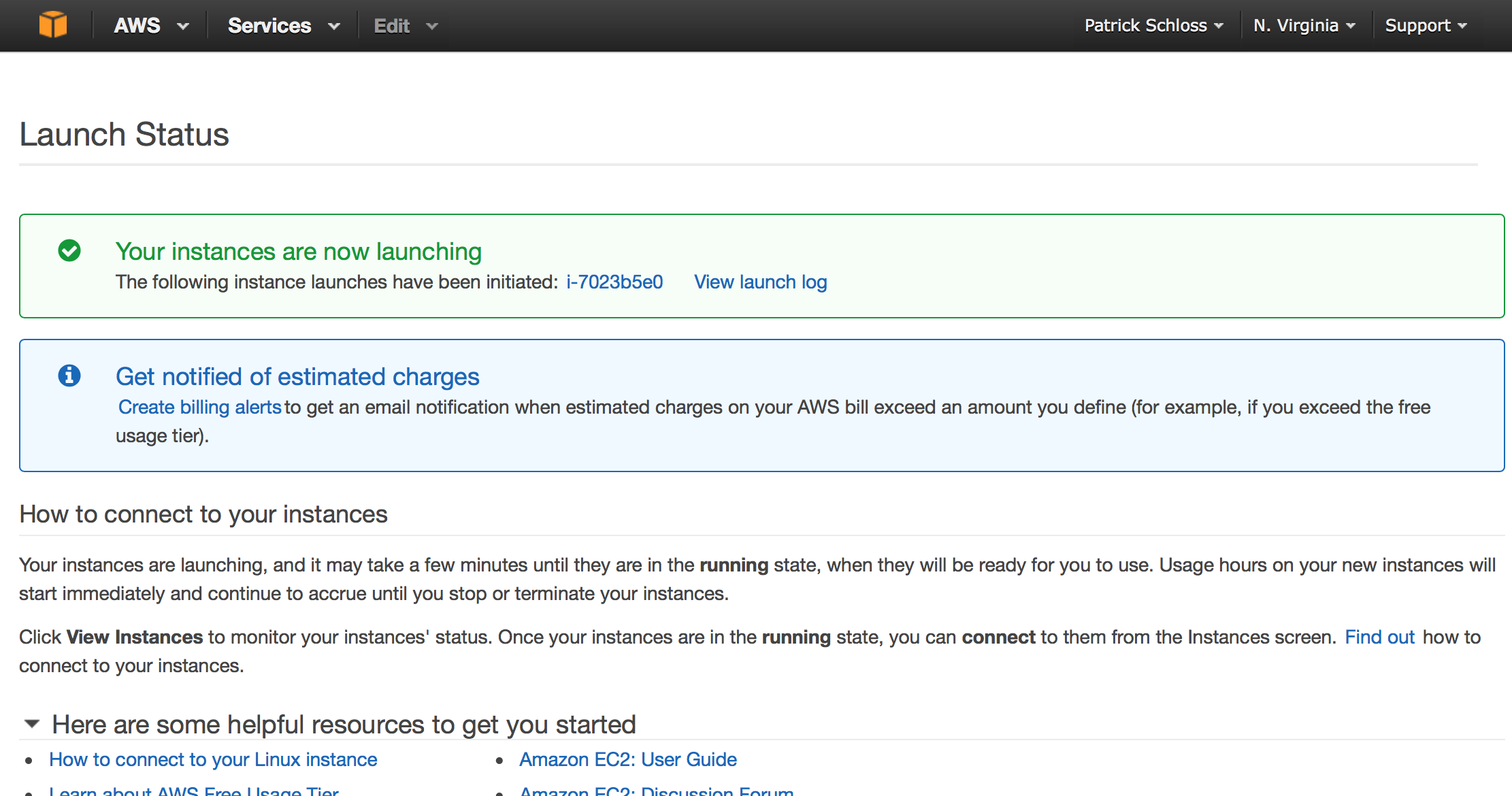 Launch your instance
